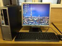 HP Compaq DC7600 Small Form Factor Windows 7 Full Desktop In Good Condition