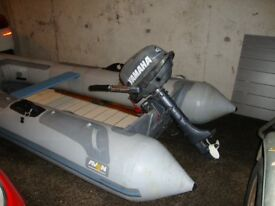 Avon 3.5m inflatable dinghy & 4hp Yamaha short shaft outboard engine