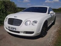 BENTLEY CONTINENTAL GT 6.0 W12 (4 WHEEL DRIVE)- ICE WHITE - LOW MILEAGE - HIGH SPEC MODEL - £32,000