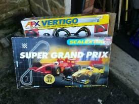 Scalextric and AFX Vertigo racing car sets