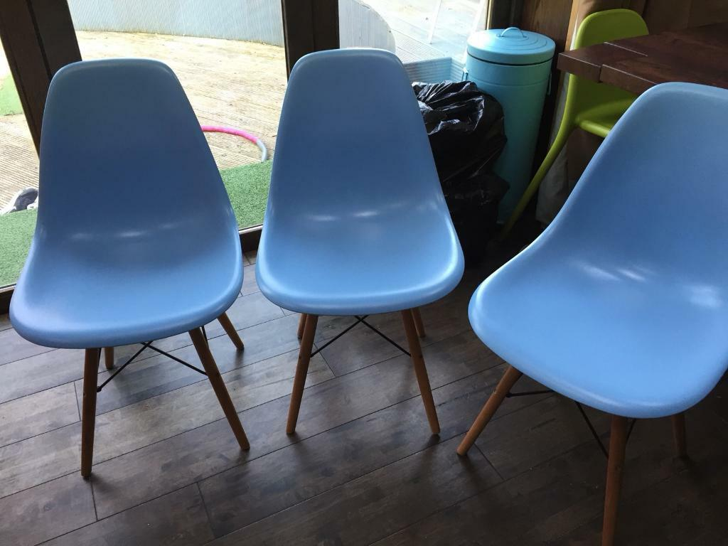 Amazing Gorgeous Charles Eames Style Kitchen Dining Chairs Duck Egg Blue In Clarkston Glasgow Gumtree Cjindustries Chair Design For Home Cjindustriesco