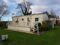 For sale a static caravan in a fantastic riverside location