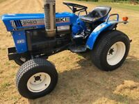 ISEKI 2160 4WD Compact Tractor with New 4ft Finishing Mower, 18HP, Spool Valves