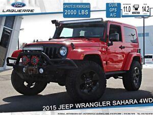 2015 Jeep Wrangler SAHARA**4WD*CUIR*GPS*BLUETOOTH*A/C**