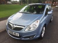 2008 VAUXHALL CORSA DESIGN 1.2 PETROL 5 DOOR LOW MILEAGE LOW INSURANCE LONG MOT ONE FORMER KEEPER