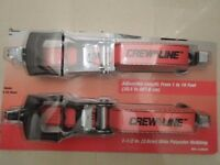 Ratchet Tie Down Strap Set x 2 Crew Line 1 1/2 inch (3.8cm)