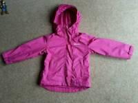 Girls pink waterproof jacket