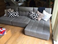 Reiko Habitat Modular Large Sofa Group 5 pieces with Habitat Max Coffee Table Great Condition