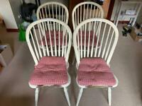 4 Laura Ashley dining chairs, including cushions.