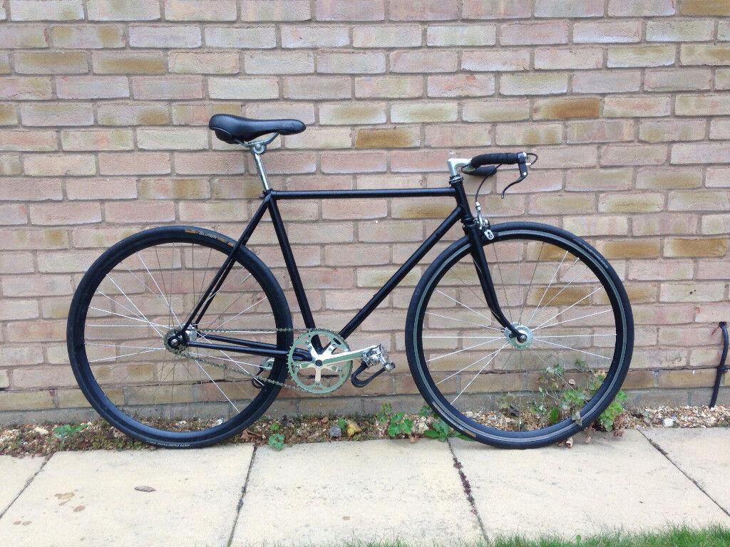 Black Fixed Gear Bike 52cm Frame