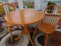 Drop leaf Kitchen / dining table & two chairs