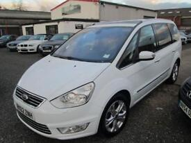 Ford Galaxy 1.6 TDCi Titanium X 5dr [Start Stop] + BLACK LEATHER + FULL SERVICE HISTORY (white) 2012