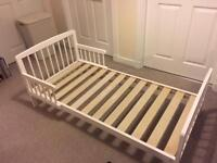Tippitoes White Toddler Bed