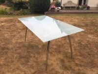 Glass topped Kitchen/Dining Room Table