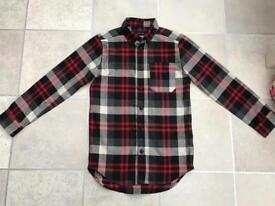 Boys red Checkered shirt by river island size 7 years