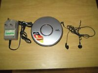 Excellent Sony Walkman D-EJ011 Silver Personal CD Payer.