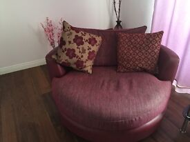 DFS swivel cuddle chair sofa
