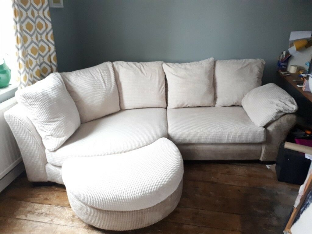 Reduced Large Corner Sofa Foot Stool And Arm Chair