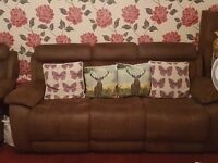 3 seater sofa reclining ends