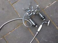 Old Style Bath Mixer Taps with Shower Attatchment