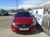 KIA CEED 1.6 CRDi 3 Estate 5dr (red) 2011