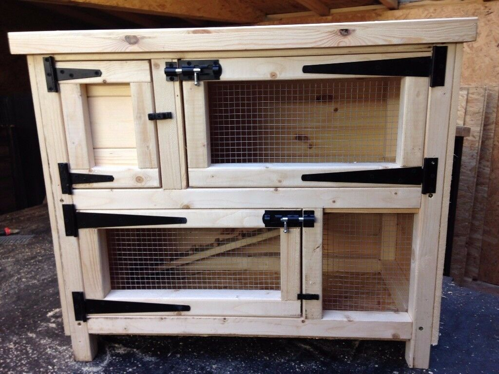 Rabbit / Guinea Pig Hutch with Run