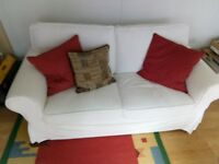 IKEA EKTORP settee with spare set covers