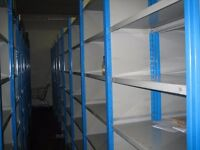 10 bays of dexion impex industrial shelving 2.1m high ( storage , pallet racking )