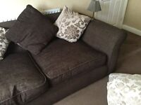 Dfs two and three seater sofas reversible cushions