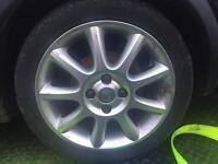 "16"" Vauxhall corsa c exclusiv alloy wheels with mint tyres nova Astra c20xe let etc"