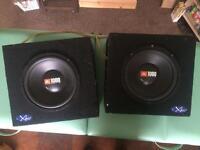 JBL 10'' boxed subwoofer pair
