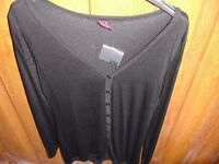 Brand New Black Cotton Cardigan size 18