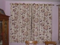 Curtains - eyelets - 2 pairs - very good condition