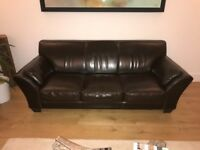 Sofas, arm chair and foot stool