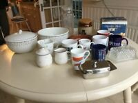 Crockery and assorted kitchenware