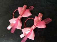 Hand made beautiful pink Hair bows
