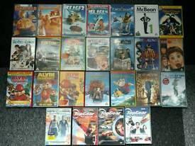 25 DVDs Mostly for kids