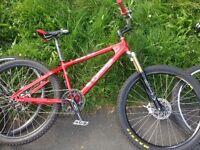 Orange hardtail mtn bike