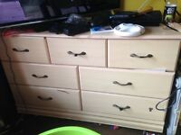 Rose pink chest of draws