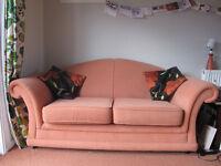 2-seater sofa and armchair, Reid, terracotta £60 ono, Dalavich