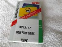 Name / ID Badge Laminating Pouches 100 pack 250 micron