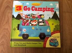 3 Go Camping story book and press put camper