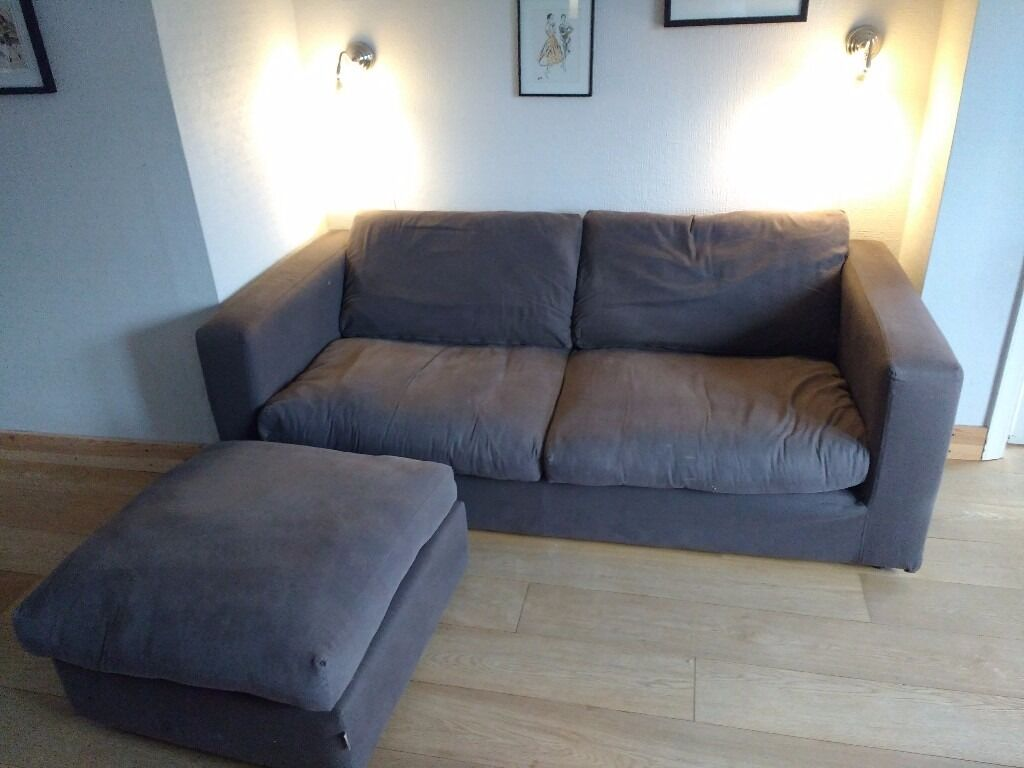 Sofa Workshop Jack Fabric Large 2 Seat Sofa and footrestin Epsom, SurreyGumtree - Sofa Workshop Jack in fabric cover.Chocolate brown covers are fully removable/washable.H89cm x W200cm x D99cmSizes and further info on the sofa workshop website.Cushions shown are not included, but throw can be if wanted.All covers will be washed...