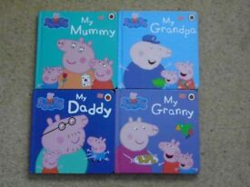 Peppa Pig thick page books x 4