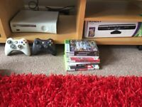 Xbox 360, Kinect, Several games, 2 controllers