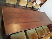 Antique Carved Oak Refectory Table
