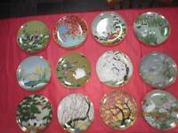 Wonderful collection of limited edition 12 Japanese hand-painted plates from Franklin Mint