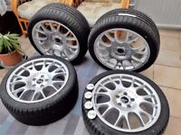 18 inch Motorsport Alloy Wheels New! with Tyres New