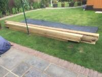 EXCELLENT JOB LOT OF LONG THICK CHUNKY DECENT WOOD - APPROX 15ft LONG -JUST £100 the lot