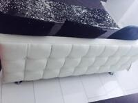 White king size bed ( no mattress)